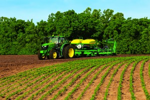 Soybeans will make up a large percentage of this year's crops. Photo credit: John Deere.