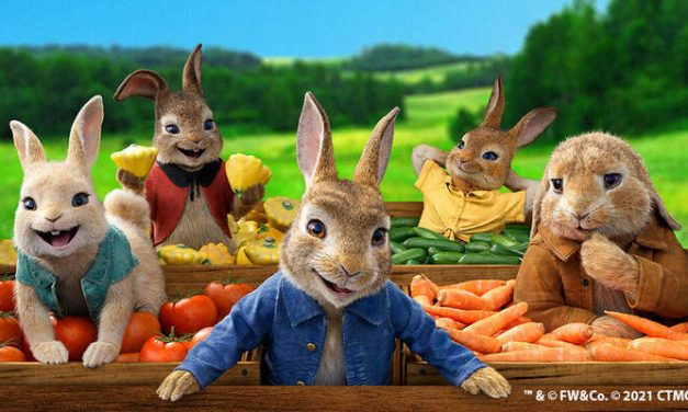 Peter Rabbit gets a jump on World Food Day