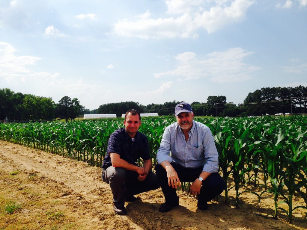 Here's me with BASF's Rob Miller, one of my former students, at BASF's Holly Springs research station in North Carolina.